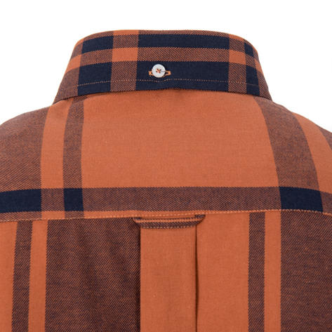 Adaptor Clothing Style Mikkel Twill Check Shirt Tan And Black Thumbnail 3