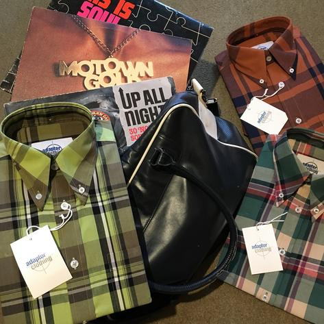 Adaptor Clothing Style Mikkel Twill Check Shirt Tan And Black Thumbnail 7