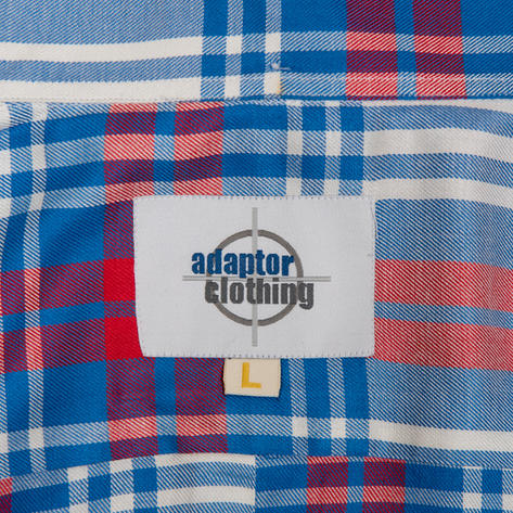 Adaptor Clothing Style Mikkel Twill Big Check Shirt Red White And Blue Thumbnail 5