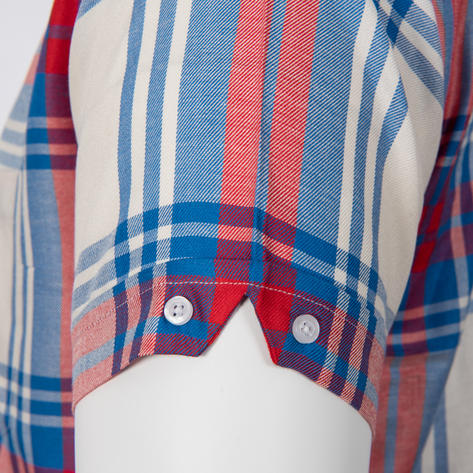 Adaptor Clothing Style Mikkel Twill Big Check Shirt Red White And Blue Thumbnail 4