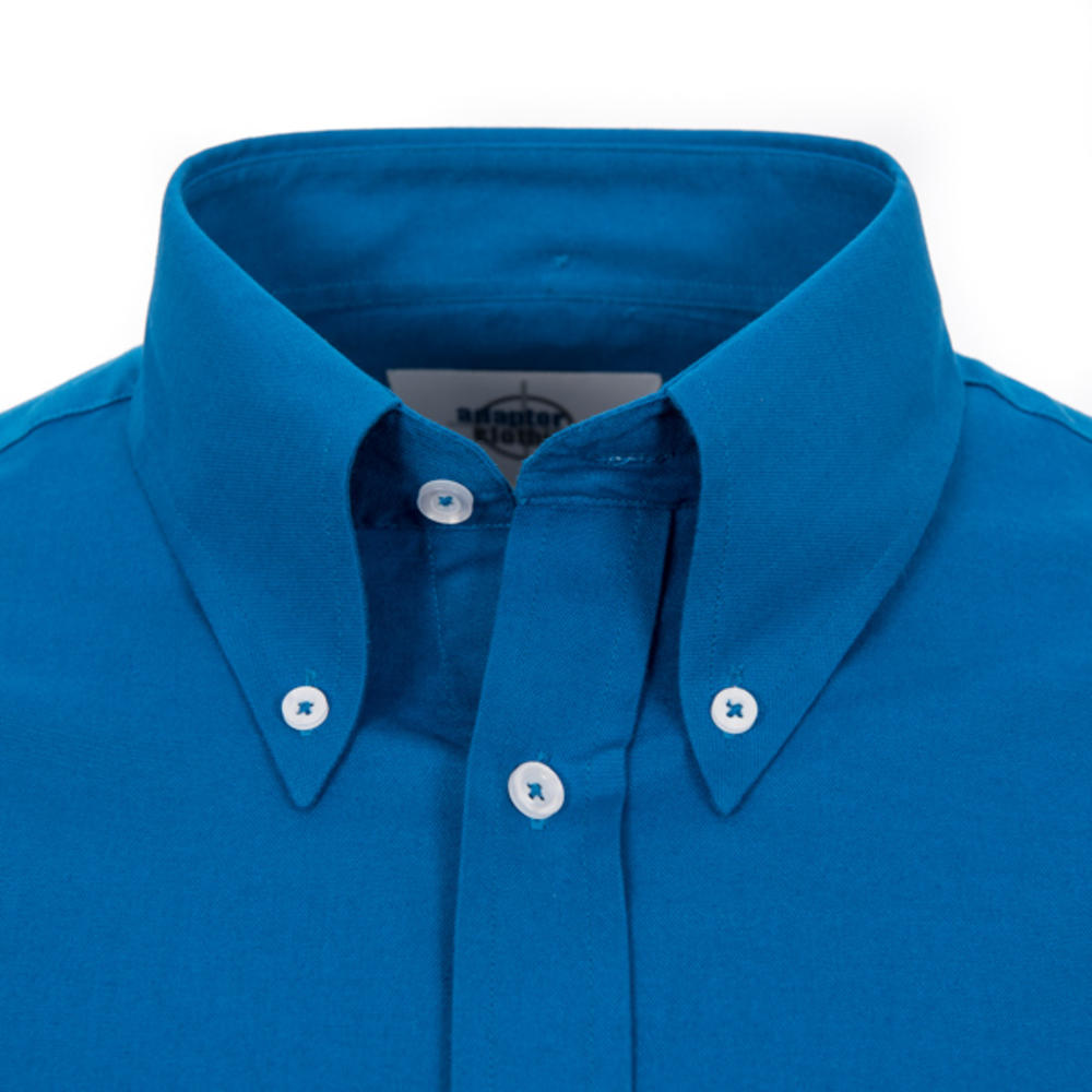 Adaptor Clothing Style Mikkel L/S Button Down Oxford Shirt Vibrant Blue