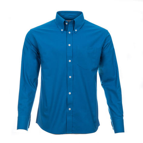 Adaptor Clothing Style Mikkel L/S Button Down Oxford Shirt Vibrant Blue Thumbnail 2