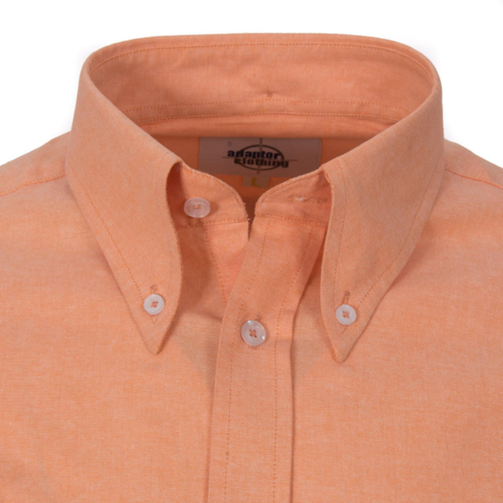 Adaptor Clothing Style Mikkel L/S Button Down Oxford Shirt Peachy Orange