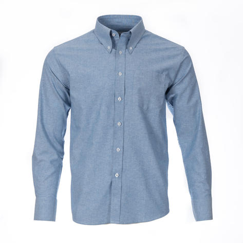 Adaptor Clothing Style Mikkel L/S Button Down Oxford Shirt Dark Blue Thumbnail 2