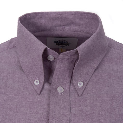 Adaptor Clothing Style Mikkel L/S Button Down Oxford Shirt Purple