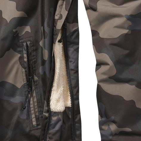 Brandit Windbreaker Borg Lined Hooded Cagoule Dark Camo Thumbnail 3