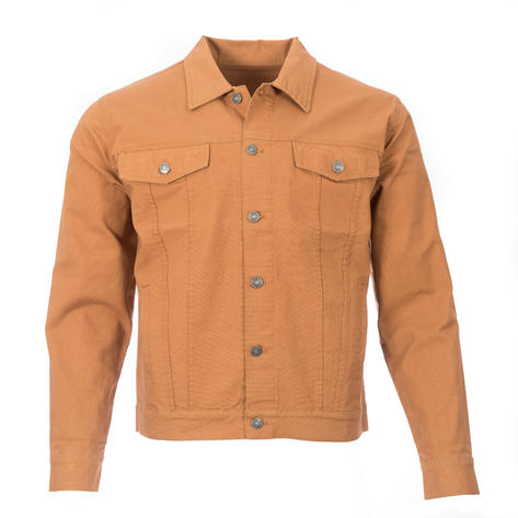Real Hoxton Canvas Trucker Jacket Tan