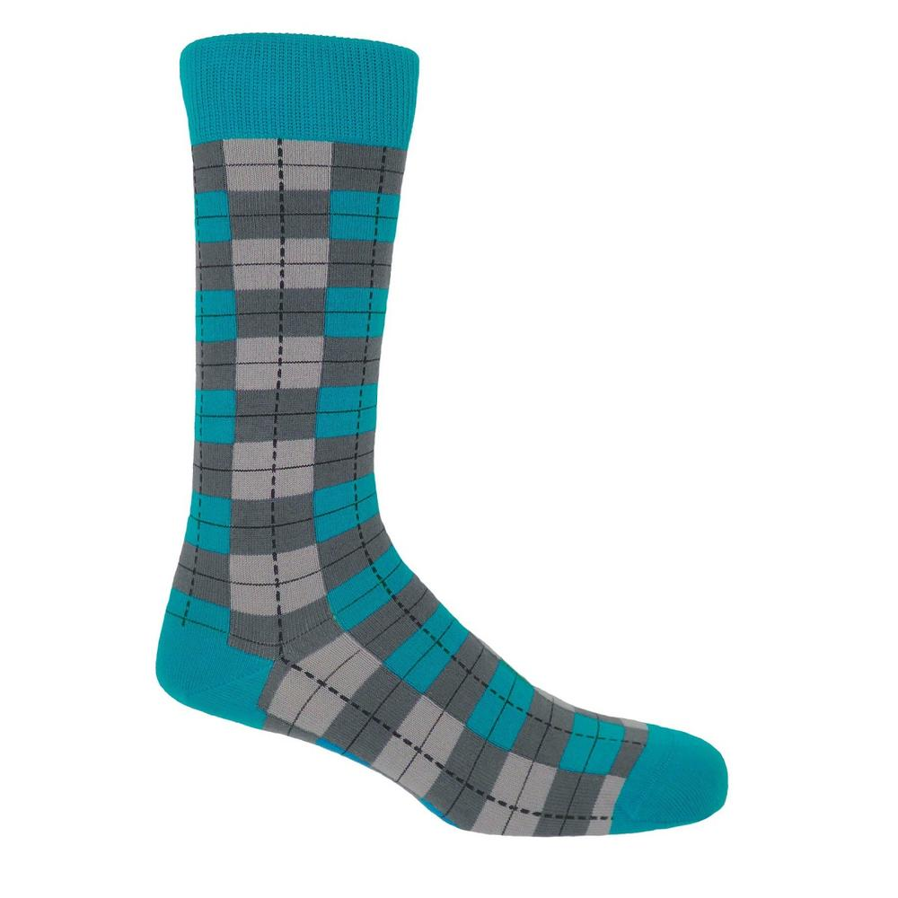 P H Cotton Mix Checkmate Socks Grey