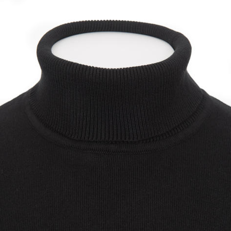 Gabicci Vintage Plain Knit Roll Neck Pullover Black Thumbnail 2
