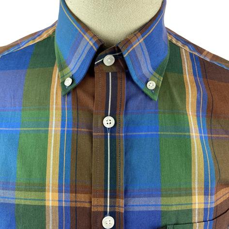 Trojan Records Cobalt Windowpane Check Shirt FREE Hanky Thumbnail 4