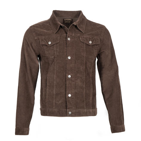 Run and Fly Mod Retro Trucker Jacket Corduroy Brown