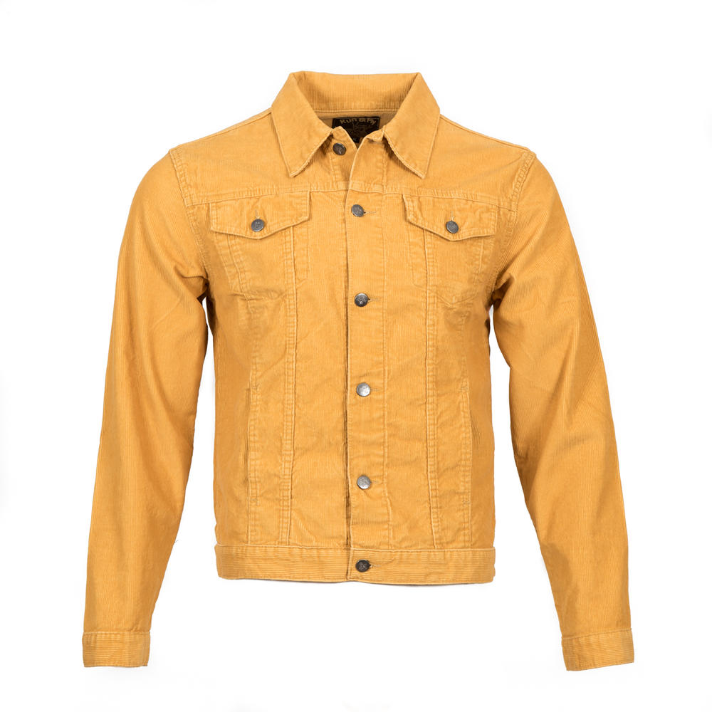 Run and Fly Mod Retro Trucker Jacket Corduroy Gold