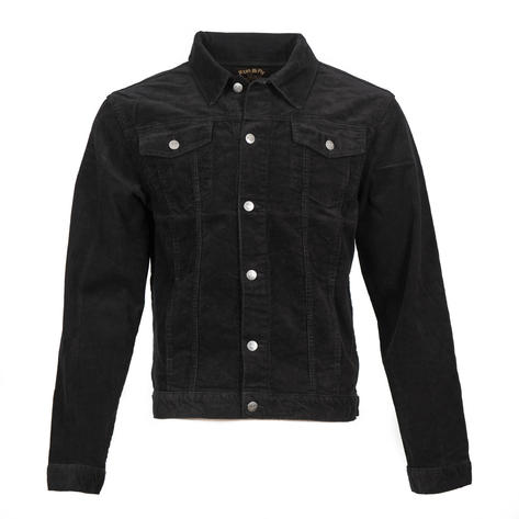 Run and Fly Mod Retro Trucker Jacket Corduroy Black Thumbnail 1