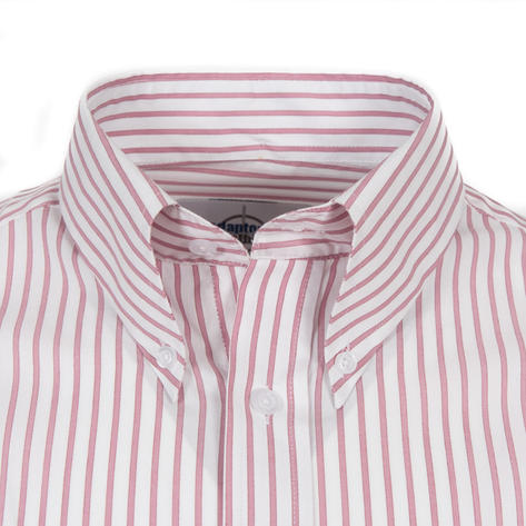 Adaptor Clothing L/S Spear Point Button Down Shirt Woven Stripe Red Thumbnail 2