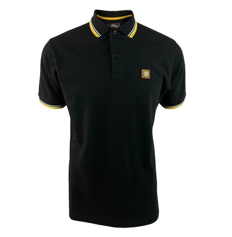 Trojan Records Metal Badge Polo Shirt Black / Yellow