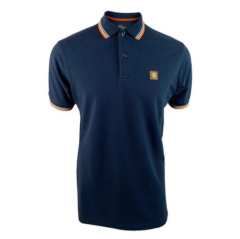 Trojan Records Metal Badge Polo Shirt  Navy