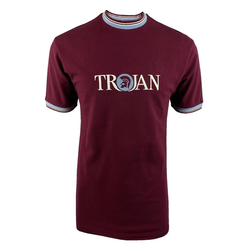 Trojan Records Pique Logo Multi Tipped Ringer T-Shirt Port