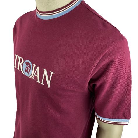 Trojan Records Pique Logo Multi Tipped Ringer T-Shirt Port Thumbnail 2