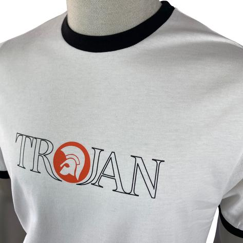 Trojan Records Outline Print Logo T-Shirt Ecru Thumbnail 2