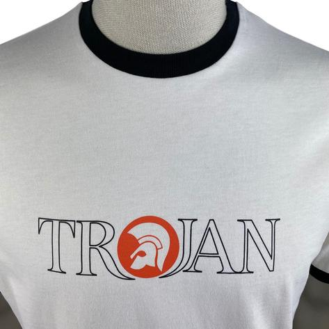 Trojan Records Outline Print Logo T-Shirt Ecru Thumbnail 3