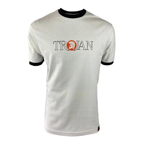 Trojan Records Outline Print Logo T-Shirt Ecru Thumbnail 1