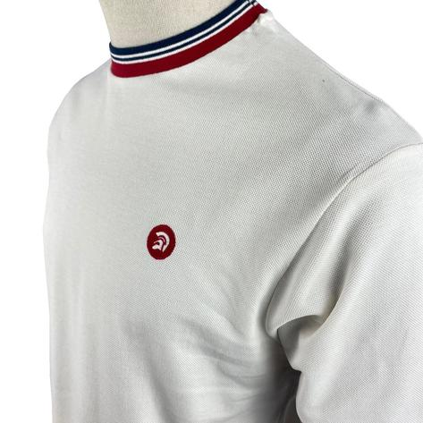 Trojan Records Mens Retro Multi Tipped Ringer T-Shirt Ecru Thumbnail 2