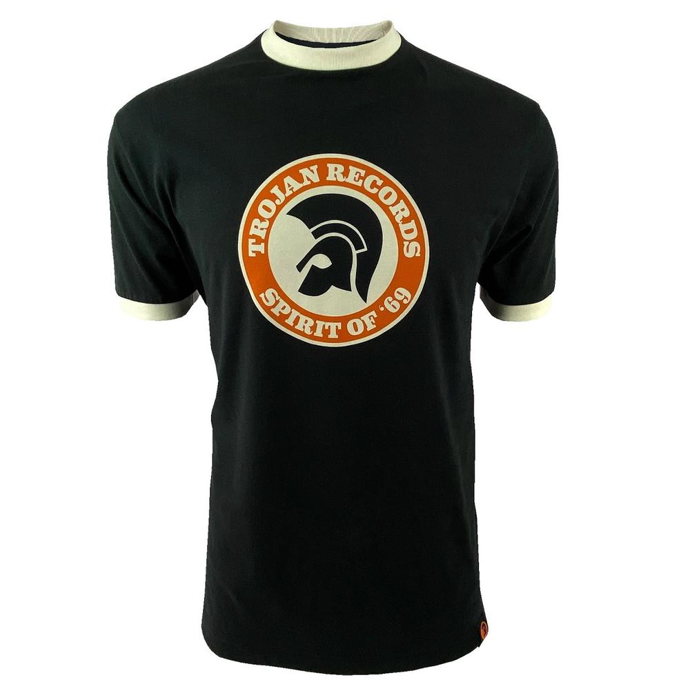 Trojan Records Spirit Of '69 Ringer T-Shirt Black
