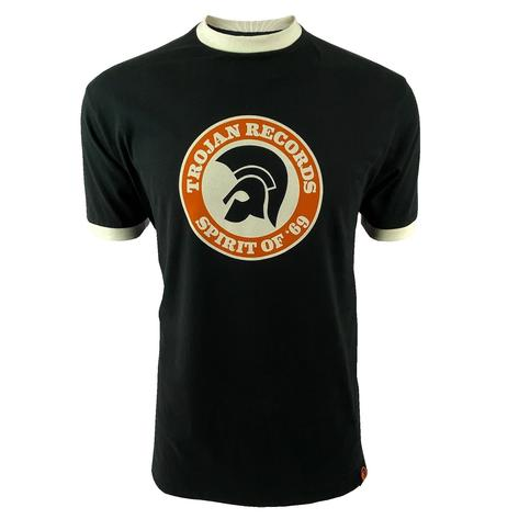 Trojan Records Spirit Of '69 Ringer T-Shirt Black Thumbnail 1