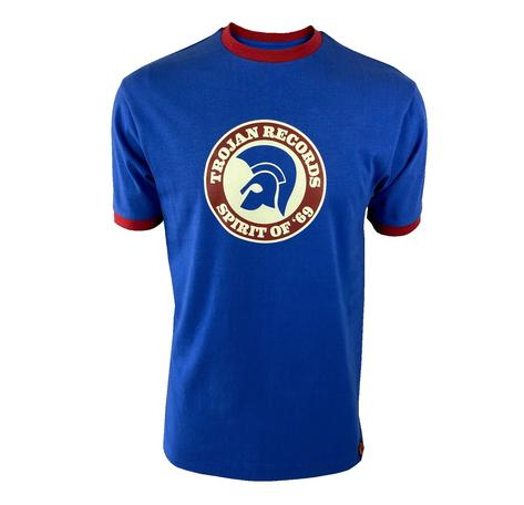 Trojan Records Spirit Of '69 Ringer T-Shirt Cobalt