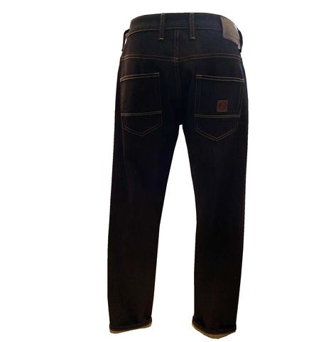 Trojan Records Zip Fly Blue / Black Denim Jeans