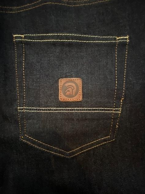Trojan Records Zip Fly Blue / Black Denim Jeans Thumbnail 3