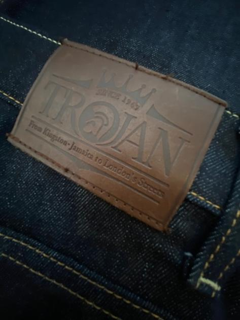 Trojan Records Zip Fly Blue / Black Denim Jeans Thumbnail 6