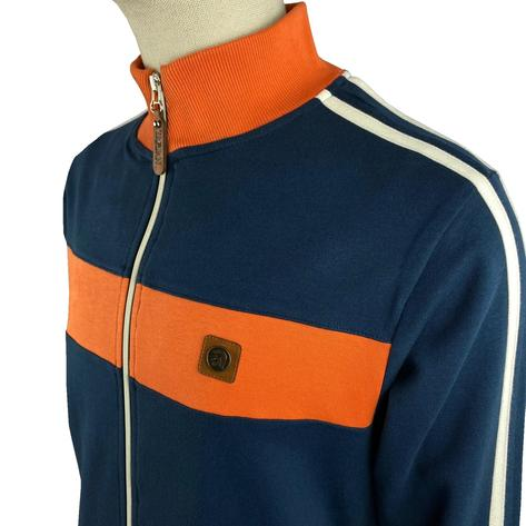 Trojan Records Contrast Panel Track Top Navy / Orange Thumbnail 2