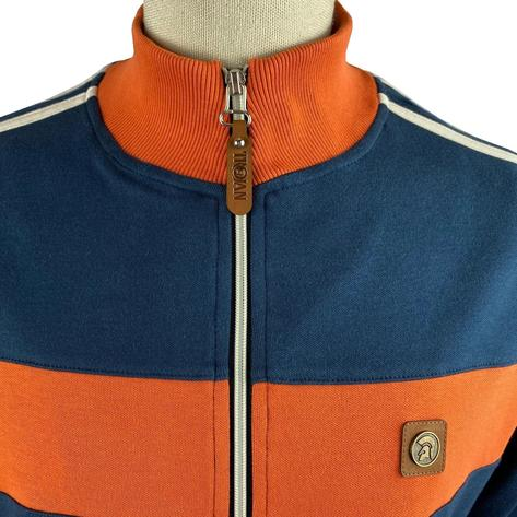 Trojan Records Contrast Panel Track Top Navy / Orange Thumbnail 3
