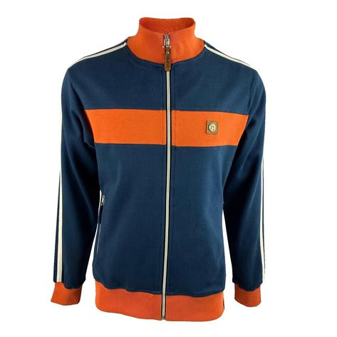 Trojan Records Contrast Panel Track Top Navy / Orange Thumbnail 1