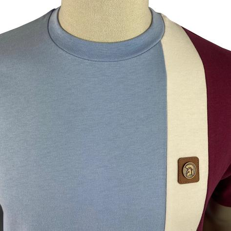 Trojan Records Cut And Sew Stripe T-Shirt Sky Thumbnail 2