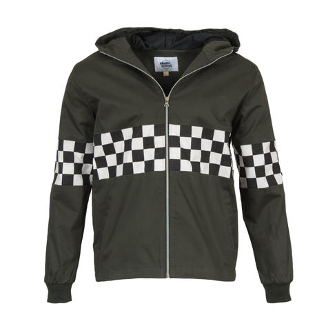 Adaptor Clothing Checkerboard James Jacket Deep Olive Green