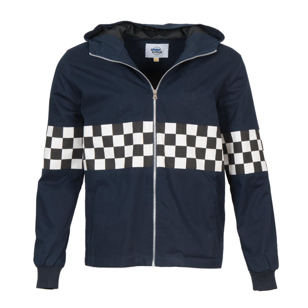 Adaptor Clothing Checkerboard James Jacket Navy Blue