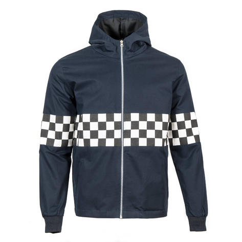 Adaptor Clothing Checkerboard James Jacket Navy Blue Thumbnail 4