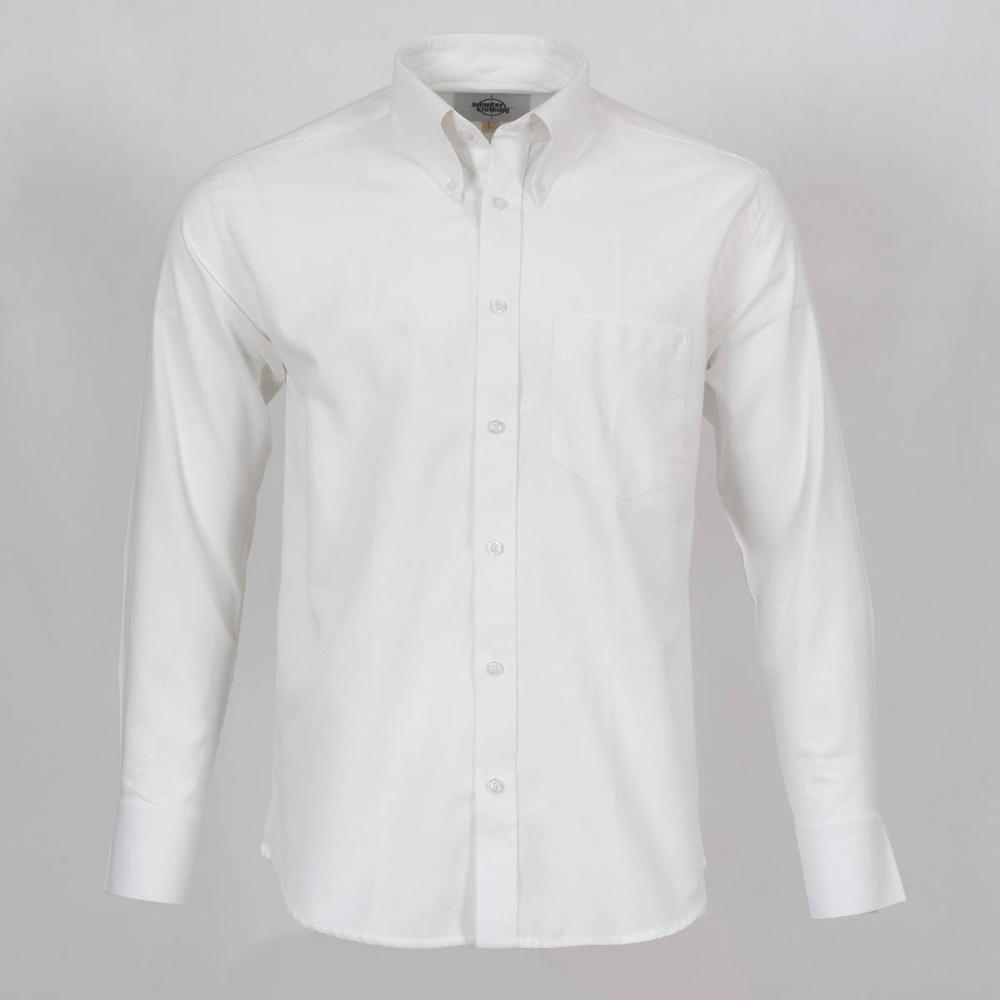 Adaptor Clothing Style L/S Button Down Oxford Shirt White