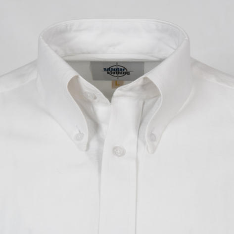 Adaptor Clothing Style L/S Button Down Oxford Shirt White Thumbnail 2