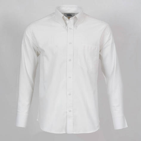 Adaptor Clothing Style L/S Button Down Oxford Shirt White Thumbnail 1