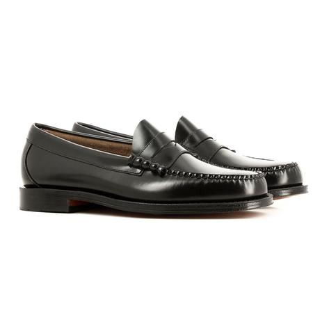 Bass Weejuns Larson Leather Sole Penny Loafer Black Thumbnail 1