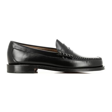 Bass Weejuns Larson Leather Sole Penny Loafer Black Thumbnail 2
