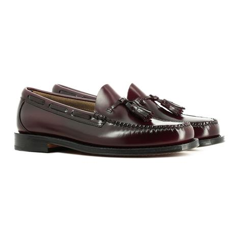 Bass Weejuns Larkin Leather Sole Tassel Loafer Wine Thumbnail 1