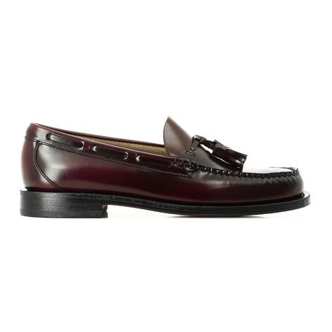 Bass Weejuns Larkin Leather Sole Tassel Loafer Wine Thumbnail 2