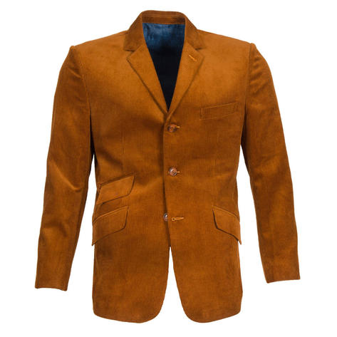 Get Up 3 Button Corduroy Sports Jacket Golden Tan