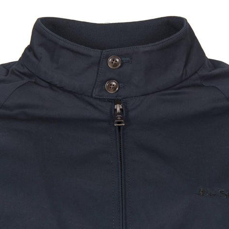 Ben Sherman House Check Lined Harrington Jacket Navy Blue Thumbnail 3