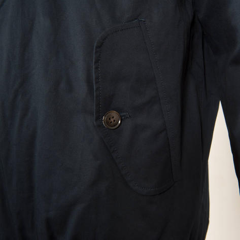 Ben Sherman House Check Lined Harrington Jacket Navy Blue Thumbnail 4