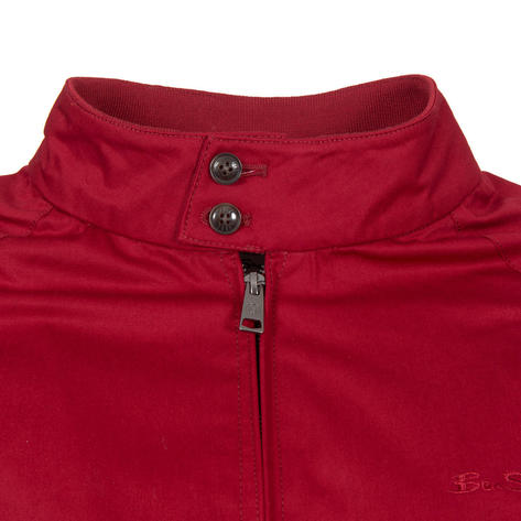 Ben Sherman House Check Lined Harrington Jacket Red Thumbnail 3